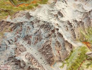 MASSIF DU MONT-BLANC [RELLEU/RELIEVE] 1:56.000 *