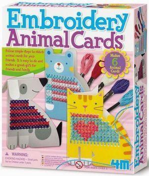 ENBROIDERY ANIMAL CARDS. BORDA ANIMALES EN TARJETAS *