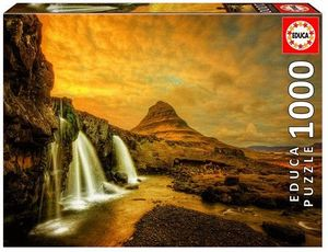 CASCADA KIRKJUFELLSFOSS, ISLANDIA PUZZLE 1000 PIEZAS *