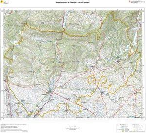 Mapa Topografic De Catalunya.Noguera Mapa Topografic De Catalunya En Relleu 1 100 000 65cm X 71 5cm