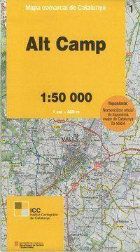 01 ALT CAMP 1:50.000 -MAPA COMARCAL CATALUNYA ICC  *
