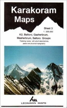 KARAKORAM MAP (KARAKORUM)  BALTORO GASHERBRUM MASHERBRUM *