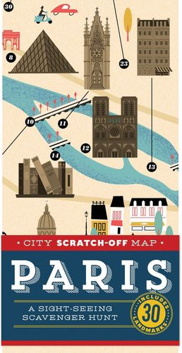PARIS CITY SCRATCH-OFF MAP *