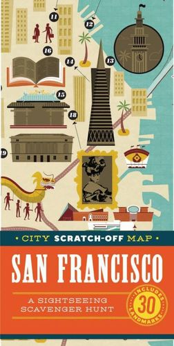 NEW YORK CITY SCRATCH-OFF MAP *