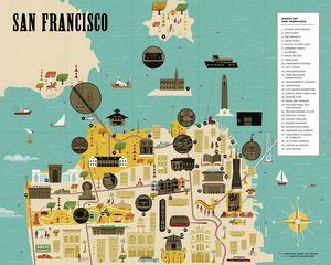 SAN FRANCISCO -CITY SCRATH-OFF MAP *