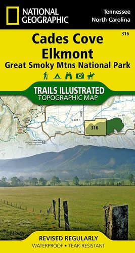316 CADES COVE/ELKMONT, GREAT SMOKY MOUNTAINS NATIONAL PARK:  1:40,000 *
