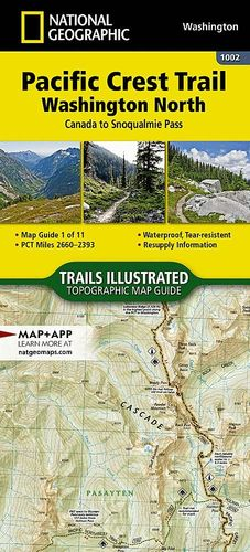 PACIFIC CREST TRAIL, WASHINGTON NORTH 1:75,000 *