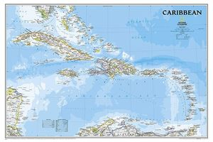 NATIONAL GEOGRAPHIC: CARIBBEAN CLASSIC WALL MAP *