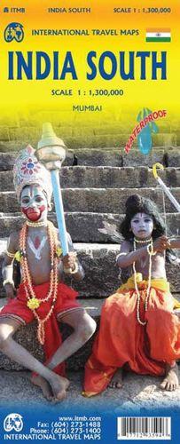 INDIA SOUTH - INDIA SUR 1:1.300.000 MUMBAI - BOMBAY1:12.000 *
