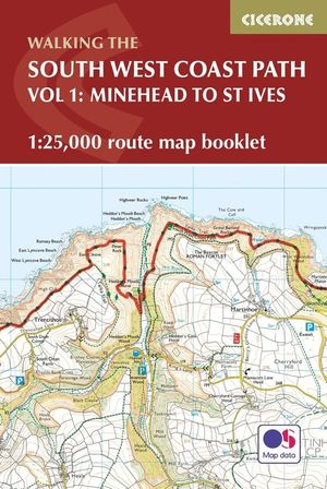 SOUTH WEST COAST PATH MAP BOOKLET - MINEHEAD TO ST IVES *