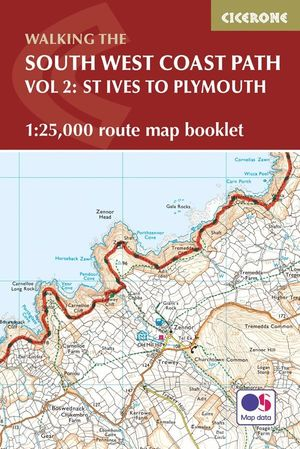 SOUTH WEST COAST PATH MAP BOOKLET - ST IVES TO PLYMOUTH *