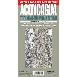 ACONCAGUA 1:50.000 TREKKING-MOUNTAINEERING TOPO MAP *