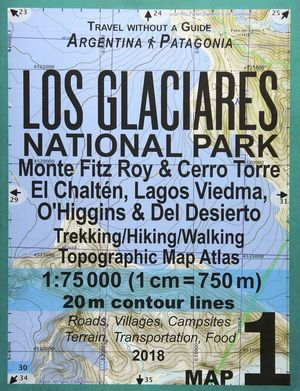 LOS GLACIARES NATIONAL PARK 1:75,000 (GUIA+MAPA)*