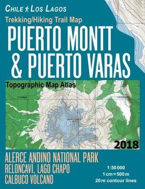 PUERTO MONTT & PUERTO VARAS - CHILE LOS LAGOS 1:50.000  *