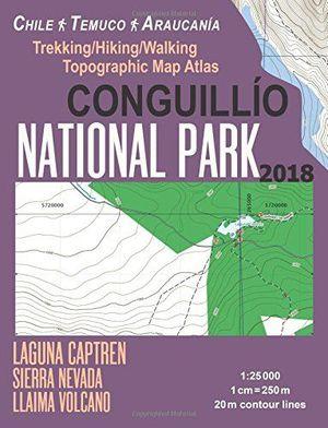 CONGUILLIO NATIONAL PARK - CHILE TEMUCO ARAUCANIA (GUIA+MAPA) 1:25.000 *