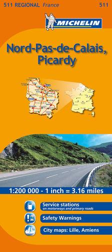 511  NORD-PAS-DE-CALAIS, PICARDY E.1:200.000