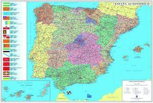 ESPAÑA - PORTUGAL  1/1 000 000   (144 X 100 CM) *