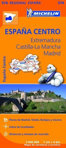 576 EXTREMADURA, CASTILLA LA MANCHA, MADRID  E.1:400.000 *