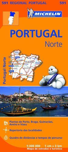 591 PORTUGAL NORTE 1/300 000 *