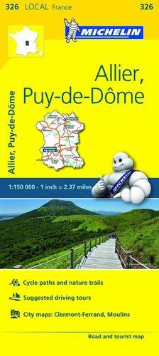 326 ALLIER, PUY-DE-DÔME 1/150 000