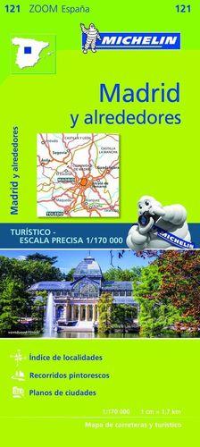 121 MADRID Y ALREDEDORES 1/170 000 *