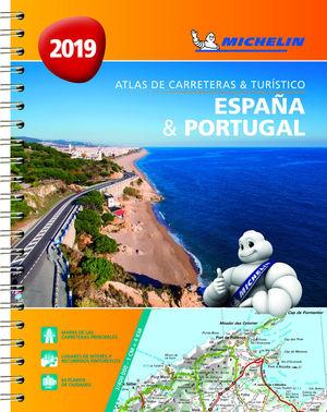 ESPAÑA & PORTUGAL (ATLAS DE CARRETERAS Y TURÍSTICO ) *
