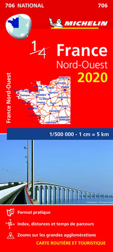 706  FRANCE NORD-OUEST 1/500 000  2020 *