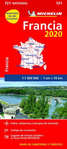 MAPA NATIONAL FRANCIA 2020  1/1 000 000 *