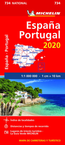 MAPA NATIONAL ESPAÑA - PORTUGAL 2020 1/1 000 000