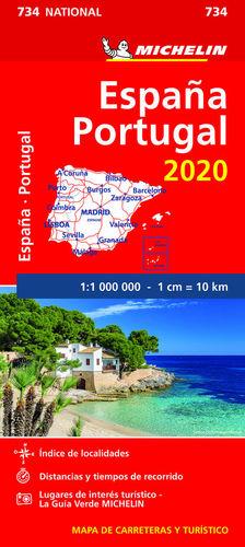 MAPA NATIONAL ESPAÑA - PORTUGAL 2020 1/1 000 000 *
