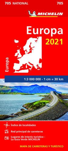 MAPA NATIONAL EUROPA 2021  1/3 000 000 *