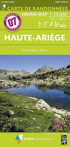 07 HAUTE ARIEGE  - VICDESSOS - ORLU  E.1:50,000