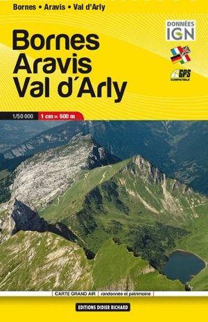 BORNES -  ARAVIS - VAL D'ARLY 1:50,000 *