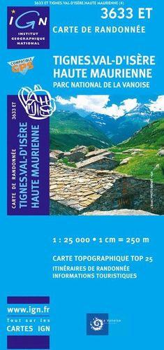 3633 ET TIGNES VAL D'ISERE HAUTE MAURIENNE 1:25,000
