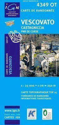 4349 OT VESCOVATO - CASTAGNICCIA E 1:25,000