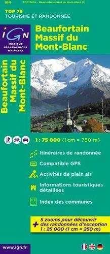 75004 BEAUFORTAIN - MASSIF DU MONTBLANC 1:75,000