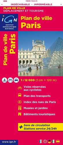 PARIS INDECHIRABLE 1:12.000  Nº 72600  *