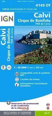 4149 OT CALVI/CIRQUE DE BONIFATU 1:25.000 -TOP 25 (CORCEGA)