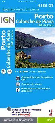 4150 OT PORTO/CALANCHE DE PIANA 1:25.000 -TOP 25  (CORCEGA)