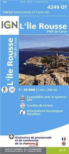 4249 OT L'ILE ROUSSE 1:25.000 - TOP 25 (CORCEGA) *