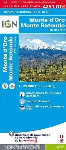 4251 OTR MONTE D'ORO - MONTE ROTONDO 1:25.000 -TOP 25 (CORCEGA) *