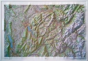 ANNECY-MONT-BLANC - CARTE EN RELIEF (RELIEVE) 1/100 000 *