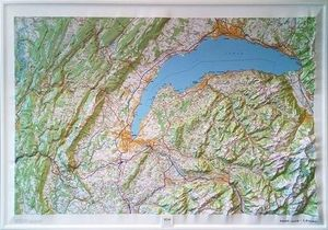 HAUT-JURA - LÉMAN (RELIEF - RELIEVE) 1/100 000 *