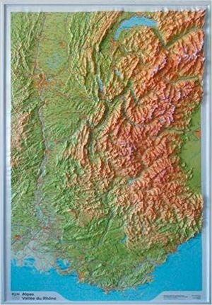 ALPES-VALLÉE-DU-RHÔNE (RELIEF - RELIEVE) 1/375 000 *