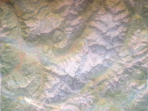 MASSIF DU MONT-BLANC (RELIEF - RELIEVE) 1/50 000 *