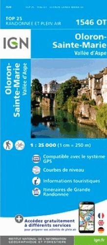 1546 OT OLORON-STE-MARIE, VALLEE D'ASPE 1:25.000