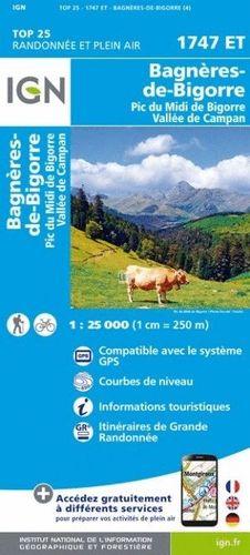 1747 ET BAGNERES-DE-BIGORRE 1:25.000