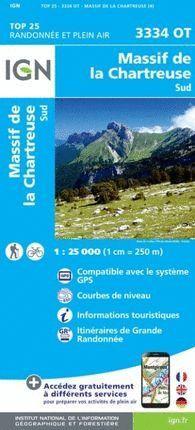 3334 OT MASSIF DE LA CHARTREUSE SUD 1:25.000 -TOP 25  *
