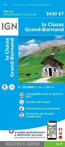 3430 ET LA CLUSAZ, GRAND-BORNAND 1:25.000