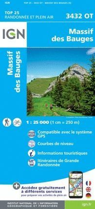 3432 OT MASSIF DE BAUGES 1:25.000 *